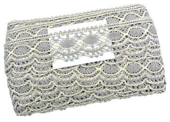 Bobbin lace No. 75238 dark linen/ecru | 30 m - 3