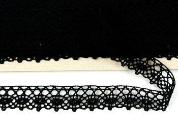 Paličkovaná krajka 75239 bavlněná, šířka 19 mm, černá - 3