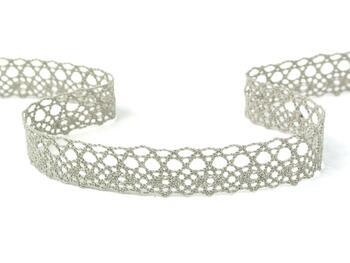 Cotton bobbin lace 75239, width 19 mm, dark linen gray - 3