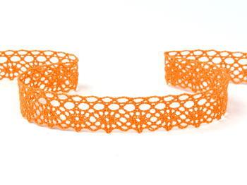 Paličkovaná krajka vzor 75239 sytě oranžová | 30 m - 3