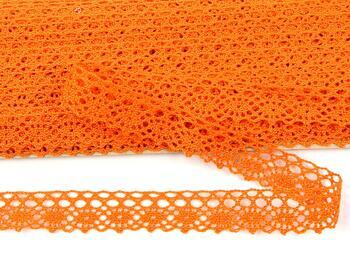 Cotton bobbin lace 75239, width 19 mm, rich orange - 3
