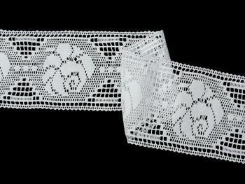Paličkovaná vsadka vzor 75241 bílá | 30 m - 3