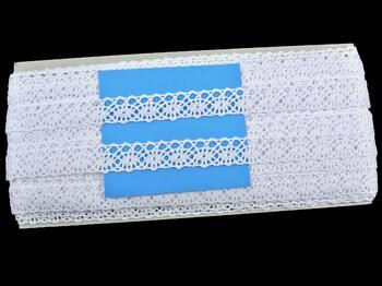 Paličkovaná krajka 75244 bavlněná, šířka16 mm, bílá - 3