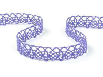 Cotton bobbin lace 75244, width 16 mm, purple II - 3
