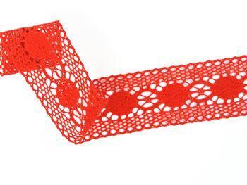 Paličkovaná vsadka 75249 bavlněná, šířka48 mm, červená - 3
