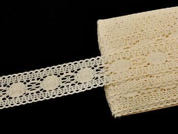 Paličkovaná vsadka 75249 bavlněná, šířka48 mm, režná - 3