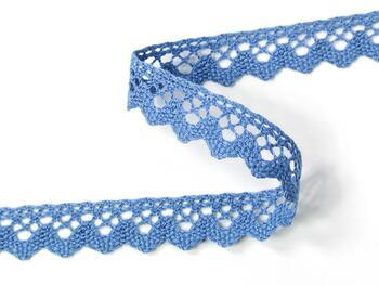 Cotton bobbin lace 75259, width 17 mm, sky blue - 3