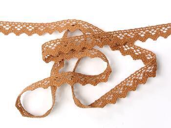 Cotton bobbin lace 75259, width 17 mm, terracotta - 3