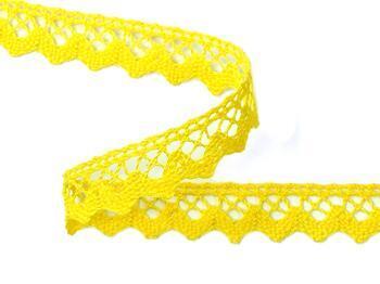 Cotton bobbin lace 75259, width 17 mm, yellow - 3