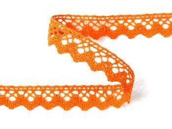 Paličkovaná krajka 75259 bavlněná, šířka17 mm, sytě oranžová - 3