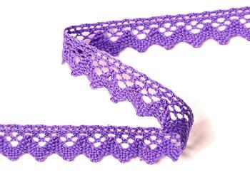 Paličkovaná krajka 75259 bavlněná, šířka 17 mm, purpurová II - 3