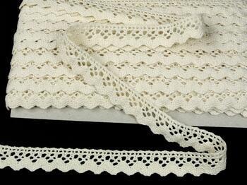 Cotton bobbin lace 75260, width 22 mm, ecru - 3