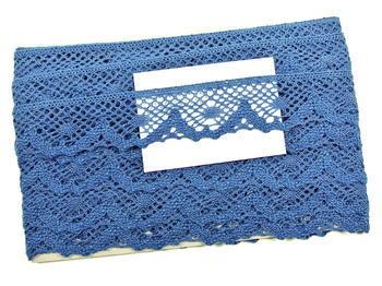 Paličkovaná krajka vzor 75261 mořská modrá | 30 m - 3