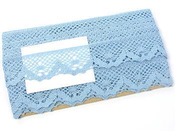 Paličkovaná krajka 75261 bavlněná, šířka40 mm, sv.modrá - 3