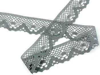 Paličkovaná krajka vzor 75261 šedá III.| 30 m - 3