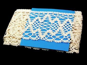 Cotton bobbin lace 75127, width120 mm, ecru - 3