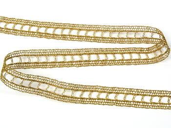 Paličkovaná vsadka vzor 75281 zlatá| 30 m - 3