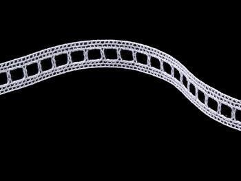 Paličkovaná vsadka 75281 bavlněná, šířka14 mm, bílá merc. - 3