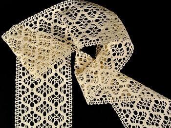 Cotton bobbin lace insert 75291, width30 mm, ecru - 3
