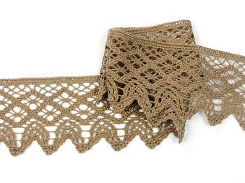 Bobbin lace No. 75293 dark beige | 30 m - 3