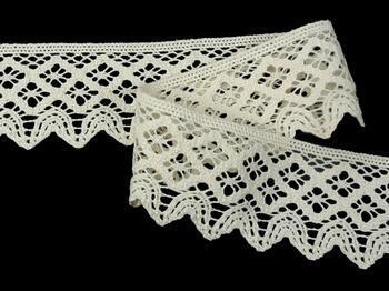 Cotton bobbin lace 75293, width 68 mm, ecru - 3