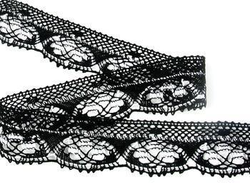 Paličkovaná krajka 75320 bavlněná, šířka40 mm, černá/bílá - 3