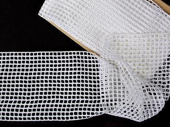 Cotton bobbin lace insert 75326, width125mm, white - 3