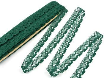 Paličkovaná krajka 75133 bavlněná, šířka19 mm, tmavě zelená - 3