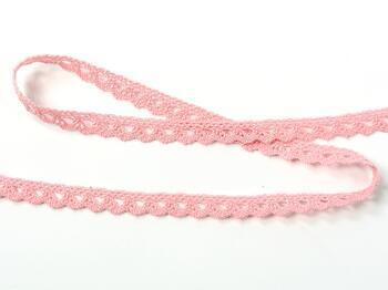 Cotton bobbin lace 75361, width 9 mm, pink - 3