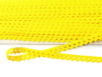 Bobbin lace No. 75361 yellow | 30 m - 3