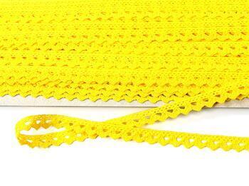 Paličkovaná krajka 75361 bavlněná, šířka9 mm, žlutá - 3