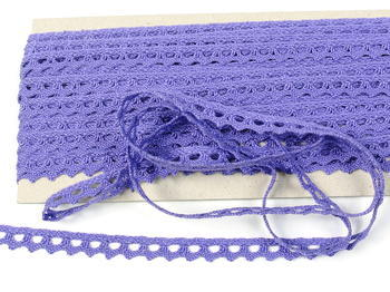 Paličkovaná krajka vzor 75361 purpurová II. | 30 m - 3