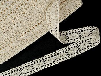 Cotton bobbin lace insert 75372, width28mm, ecru - 3