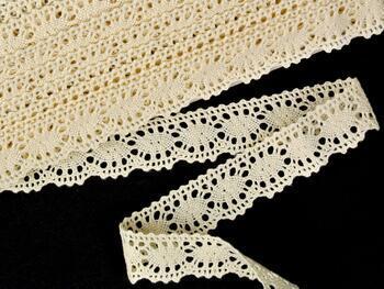 Cotton bobbin lace 75394, width 25 mm, ecru - 3