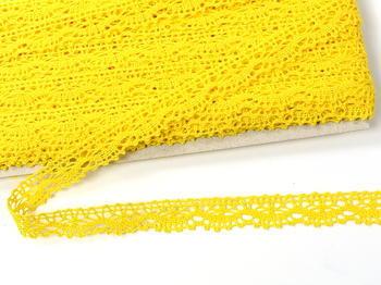 Paličkovaná krajka vzor 75395 žlutá | 30 m - 3