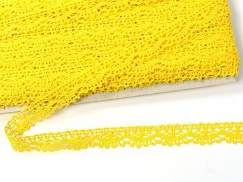 Paličkovaná krajka 75395 bavlněná, šířka16 mm, žlutá - 3