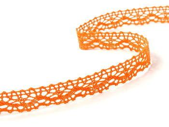 Paličkovaná krajka vzor 75395 sytě oranžová | 30 m - 3