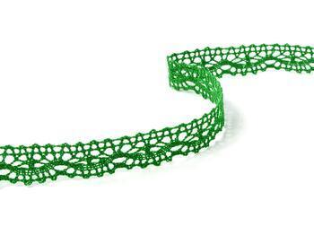 Cotton bobbin lace 75395, width 16 mm, grass green - 3