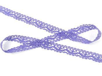 Paličkovaná krajka 75395 bavlněná, šířka16 mm, purpurová - 3