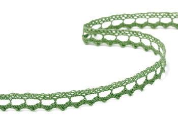Paličkovaná krajka vzor 75397  zelená olivová | 30 m - 3