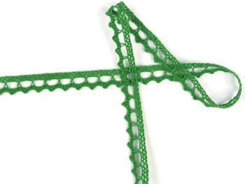 Paličkovaná krajka vzor 75397 trávová zelená | 30 m - 3