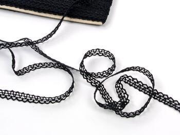 Cotton bobbin lace 75405, width 10 mm, black - 3