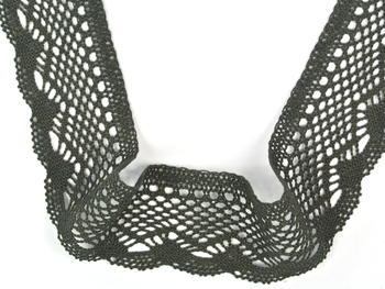 Bobbin lace No. 75414 dark olive | 30 m - 3