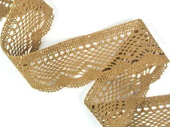 Bobbin lace No. 75414 chocolate | 30 m - 3