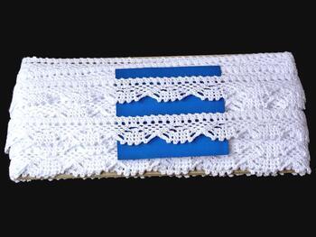 Paličkovaná krajka 75423 bavlněná, šířka26 mm, bílá - 3