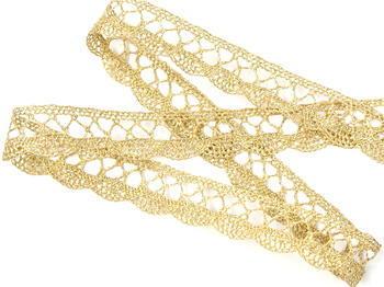Bobbin lace No. 75428/75099 gold+white | 30 m - 3
