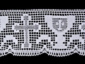 Paličkovaná krajka vzor 75446 bílá | 30 m - 3