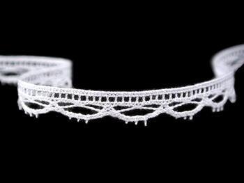 Paličkovaná krajka vzor 75465 bílá | 30 m - 3
