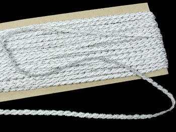 Bobbin lace No. 75481 white/silver | 30 m - 3