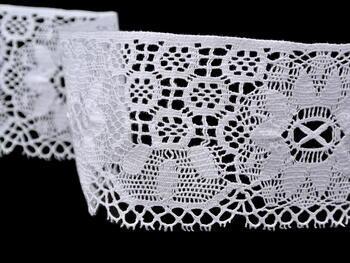 Paličkovaná krajka vzor 75501 bílá | 30 m - 3